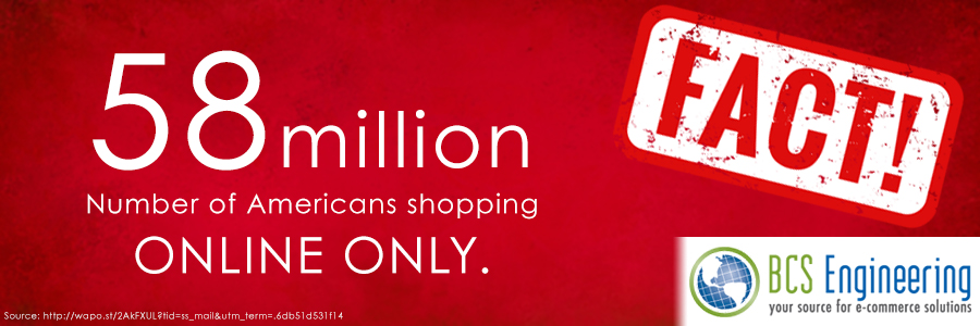 58 million Americans are shopping online only this holiday season.